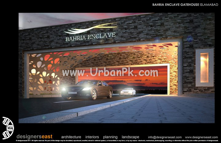 islamabad bahria enclave gate house renders by designers east