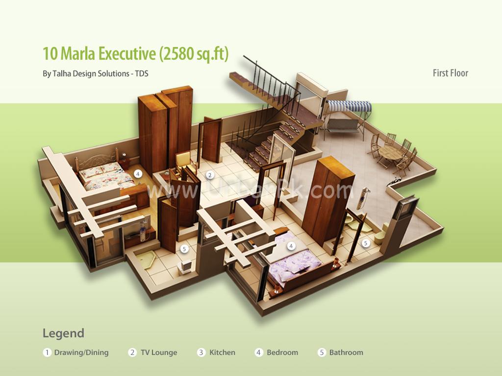 ... marla executive render 10 marla executive a model plan 10 marla