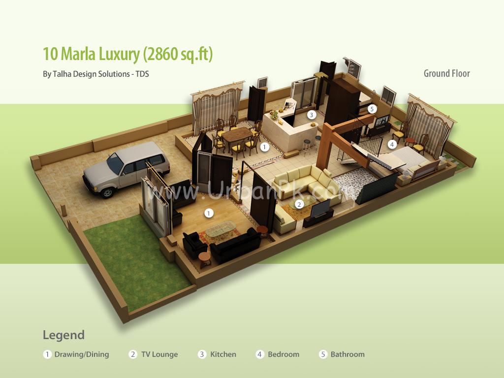 ... marla luxury render 10 marla luxury a model plan 10 marla executive b