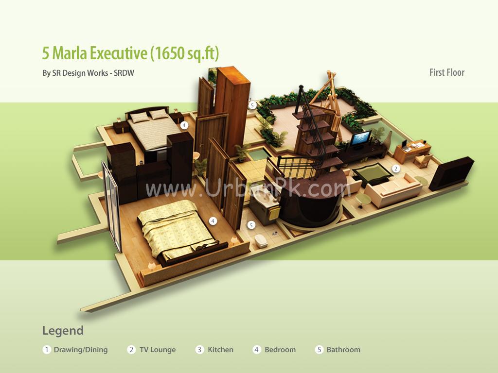 ... marla executive a render 5 marla executive a model plan 5 marla