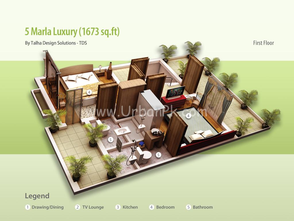 ... marla luxury render 5 marla luxury a model plan 5 marla luxury b